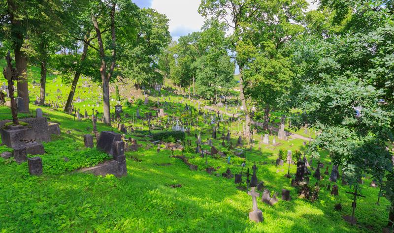 Παλαιό νεκροταφείο Rasos σε Vilnius στοκ εικόνες