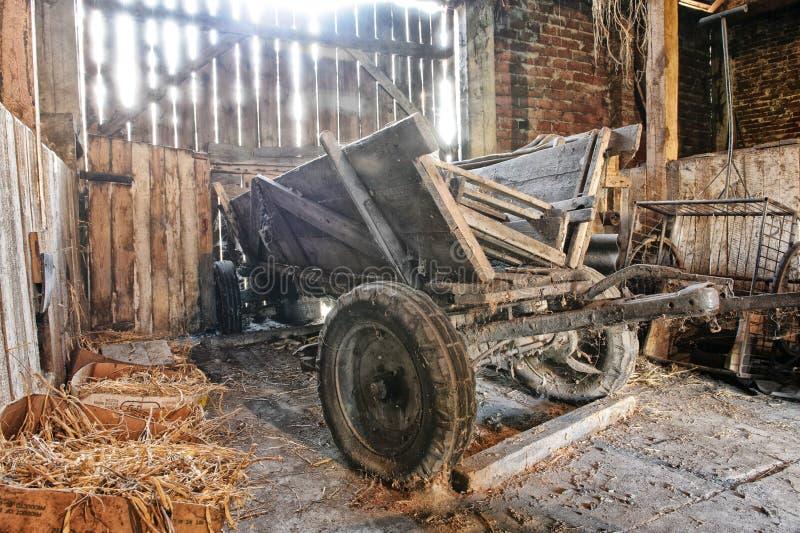 Παλαιό ξύλινο βαγόνι εμπορευμάτων στοκ εικόνα με δικαίωμα ελεύθερης χρήσης