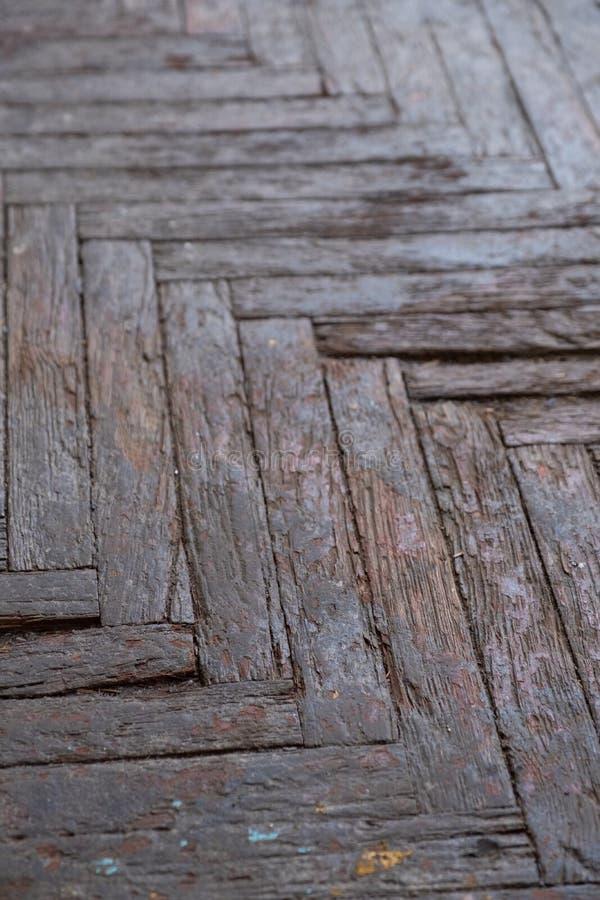 Παλαιό ξύλινο δάπεδο παρκέ στοκ εικόνες με δικαίωμα ελεύθερης χρήσης