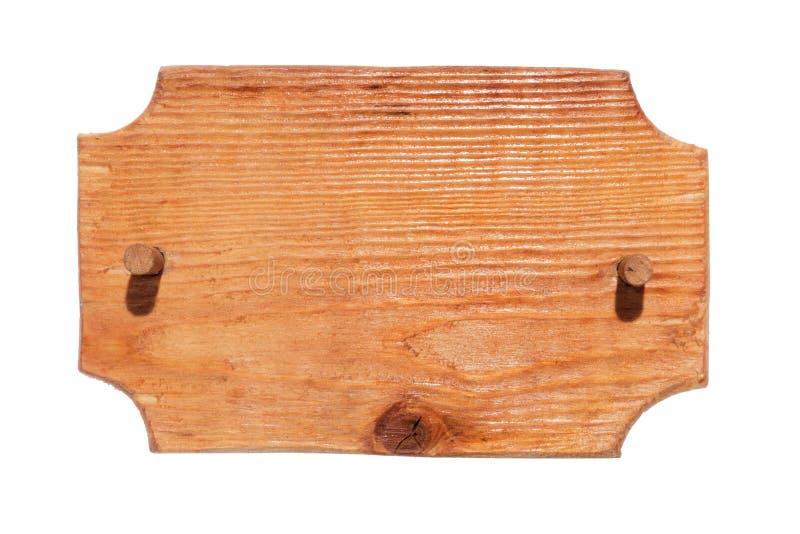 Παλαιό ξύλινο σημάδι με το ξύλινο φίμωμα απομονωμένος στοκ εικόνες