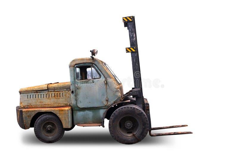 Παλαιό οξυδωμένο Forklift truck στοκ εικόνες