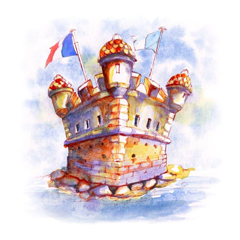 Παλαιό οχυρό προμαχώνων σε Menton, Γαλλία στοκ εικόνες με δικαίωμα ελεύθερης χρήσης