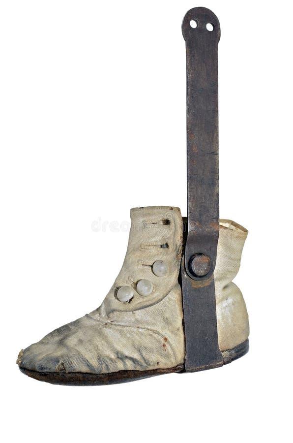 Παλαιό παπούτσι μωρών στοκ εικόνες