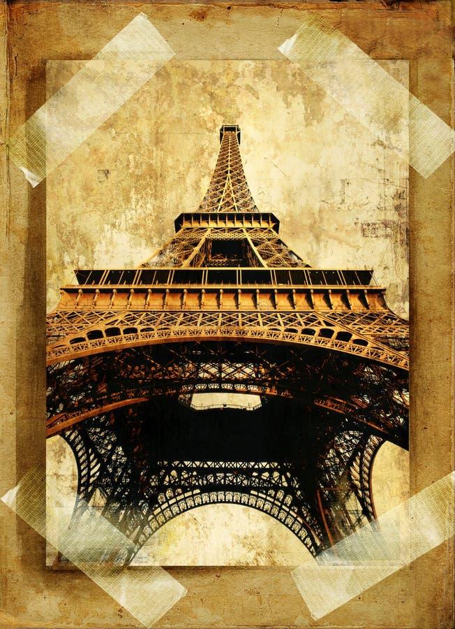 παλαιό Παρίσι ελεύθερη απεικόνιση δικαιώματος