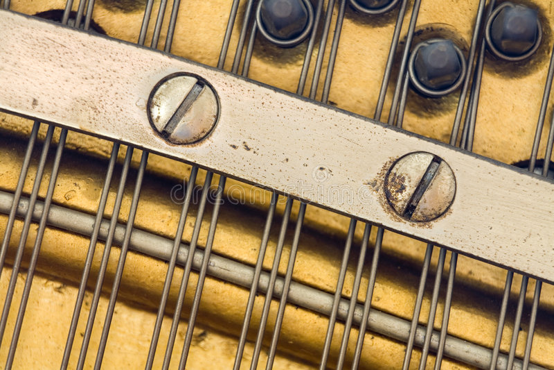παλαιό πιάνο λεπτομέρεια&sig στοκ φωτογραφίες με δικαίωμα ελεύθερης χρήσης