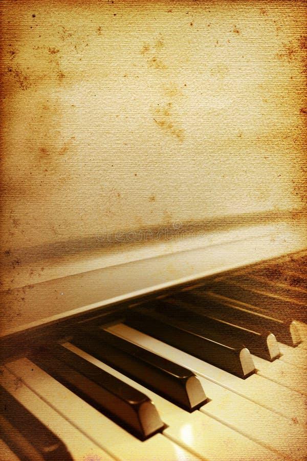 παλαιό πιάνο ράβδων διανυσματική απεικόνιση