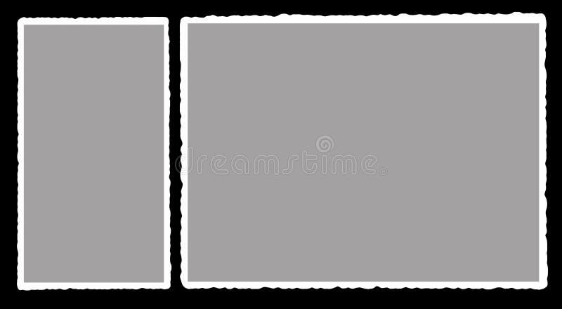 2 παλαιό πλαίσιο για τη φωτογραφία στοκ εικόνες