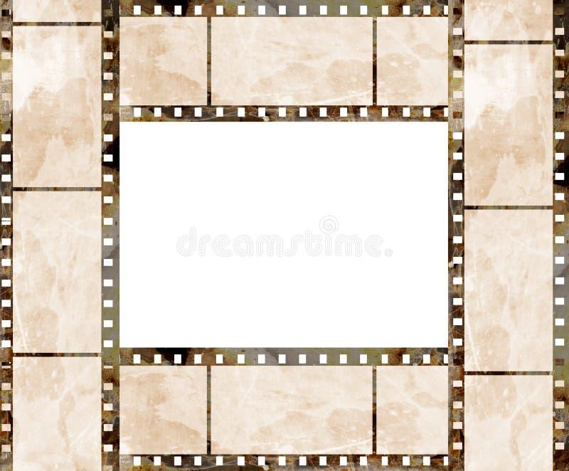 Παλαιό πλαίσιο λουρίδων ταινιών απεικόνιση αποθεμάτων