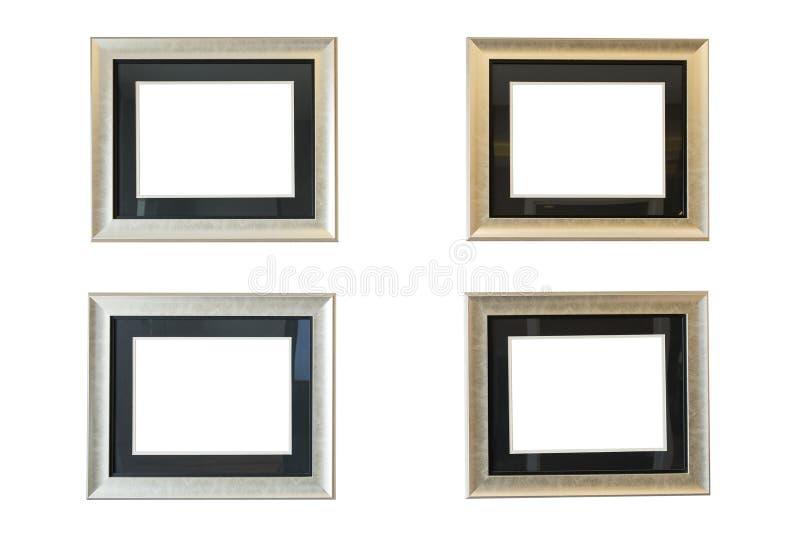 Παλαιό πλαίσιο που απομονώνεται στον άσπρο τοίχο στοκ φωτογραφίες με δικαίωμα ελεύθερης χρήσης