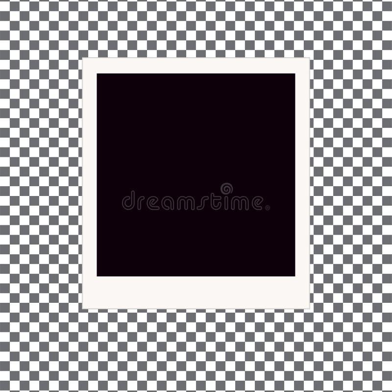 Παλαιό πλαίσιο φωτογραφιών Polaroid ελεύθερη απεικόνιση δικαιώματος