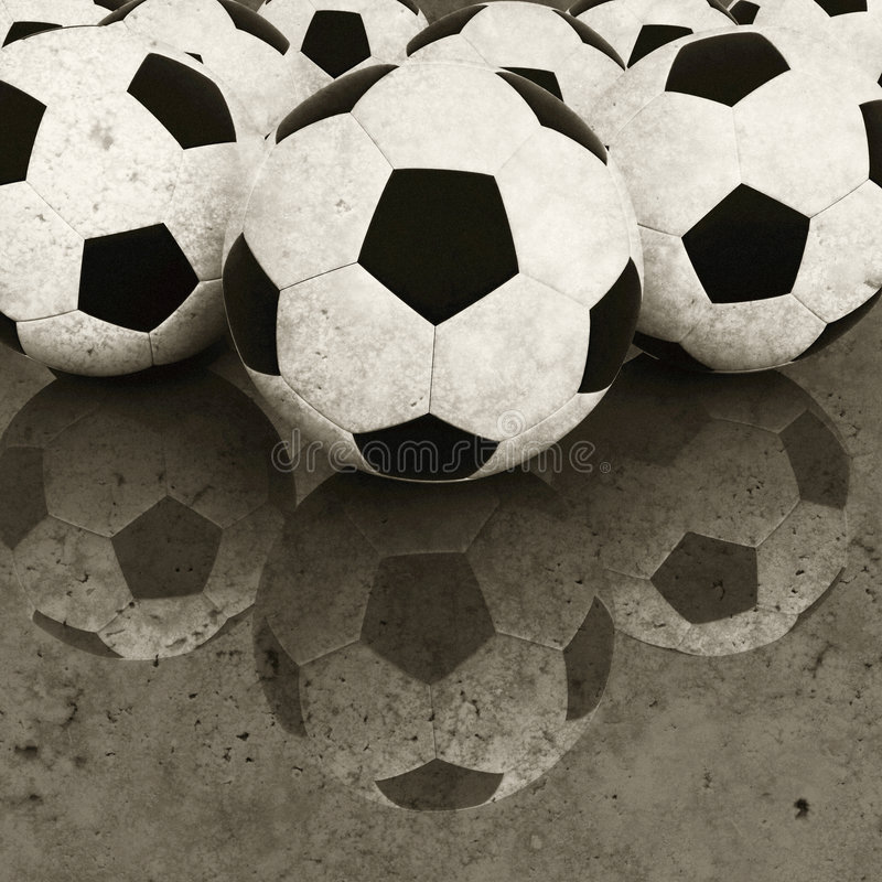 παλαιό ποδόσφαιρο σφαιρών στοκ φωτογραφίες με δικαίωμα ελεύθερης χρήσης