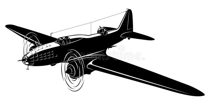 Παλαιό πολεμικό αεροσκάφος ελεύθερη απεικόνιση δικαιώματος