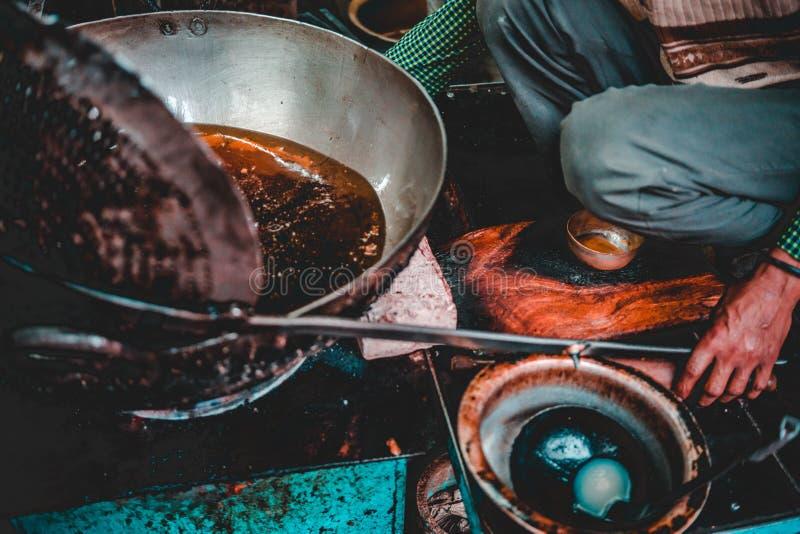 Παλαιό πρόγευμα του Δελχί - φτωχό Aloo στοκ φωτογραφία