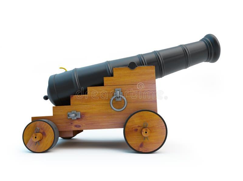 Παλαιό πυροβόλο πειρατών ελεύθερη απεικόνιση δικαιώματος