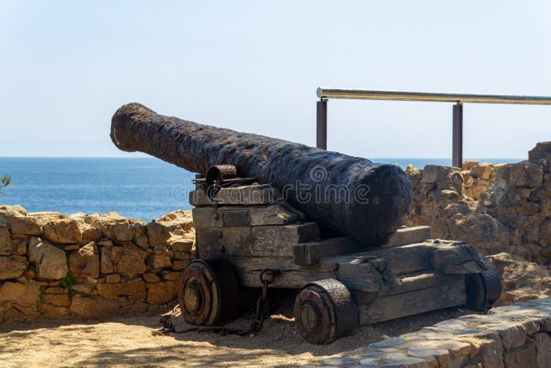 Παλαιό πυροβόλο Tossa de Mar στοκ εικόνες με δικαίωμα ελεύθερης χρήσης