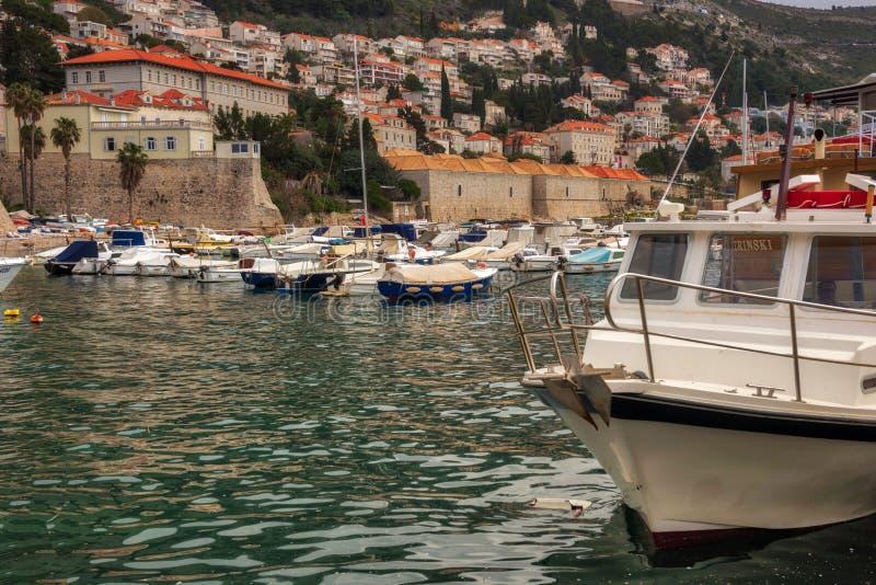Παλαιό πόλης λιμάνι Dubrovnik στοκ εικόνες με δικαίωμα ελεύθερης χρήσης