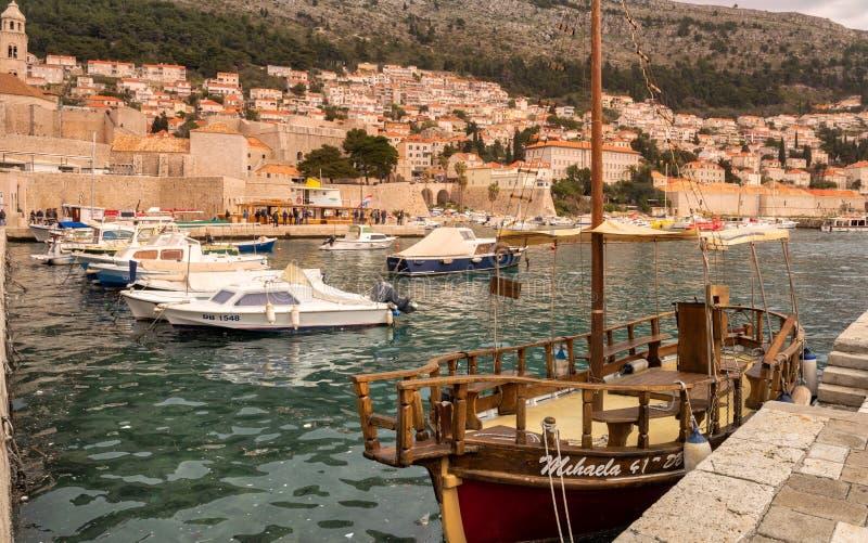 Παλαιό πόλης λιμάνι Dubrovnik στοκ εικόνες