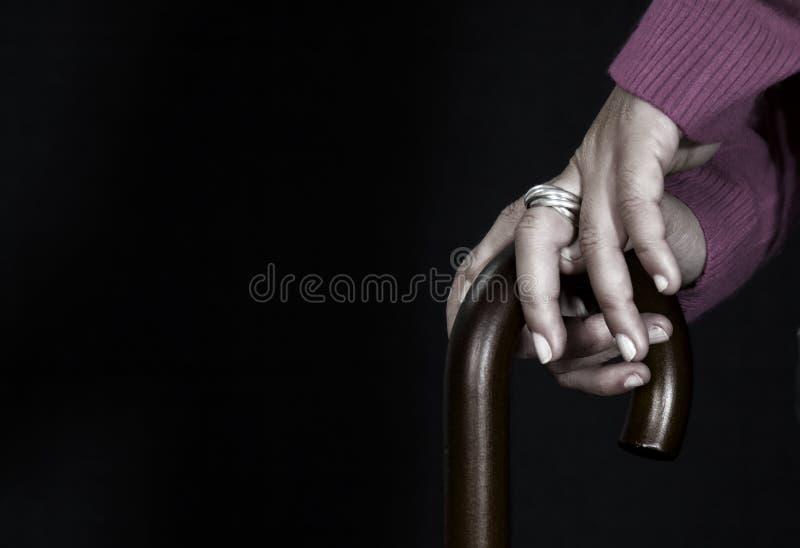 παλαιό ραβδί χεριών στοκ φωτογραφίες με δικαίωμα ελεύθερης χρήσης