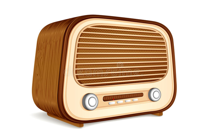 παλαιό ραδιόφωνο ελεύθερη απεικόνιση δικαιώματος