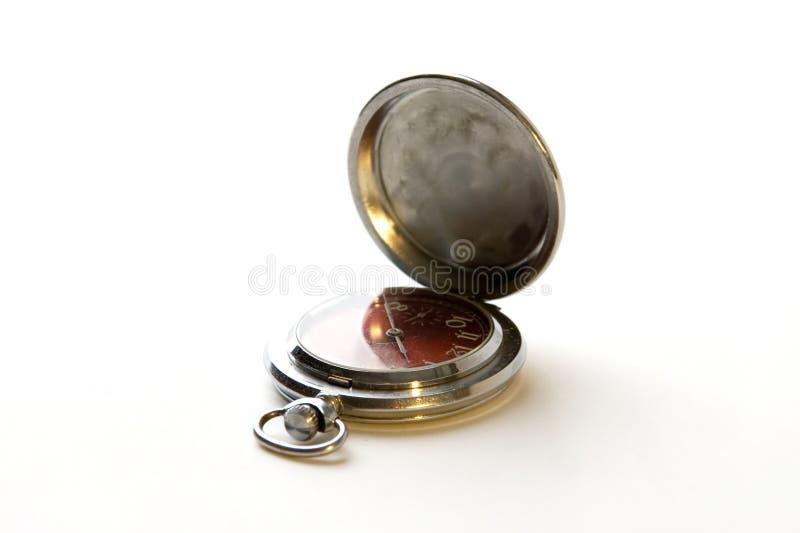 παλαιό ρολόι μετάλλων στοκ εικόνες