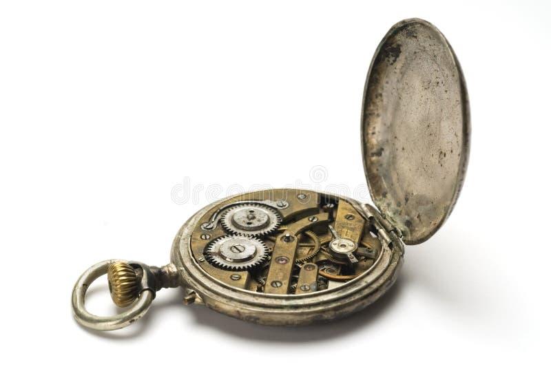 παλαιό ρολόι τσεπών μηχανι&sig στοκ εικόνες