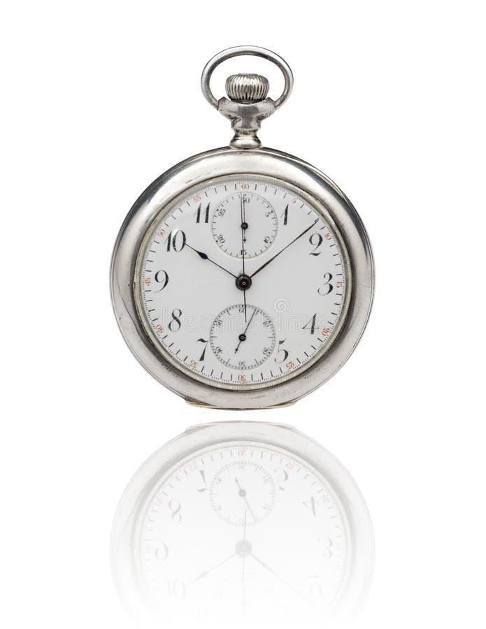 παλαιό ρολόι τσεπών μονοπατιών ψαλιδίσματος στοκ εικόνες