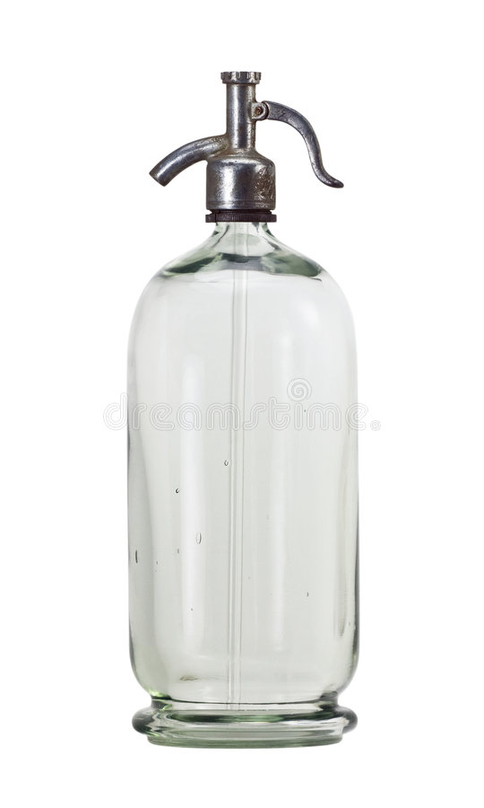 παλαιό σιφώνιο μπουκαλιώ&n στοκ εικόνα