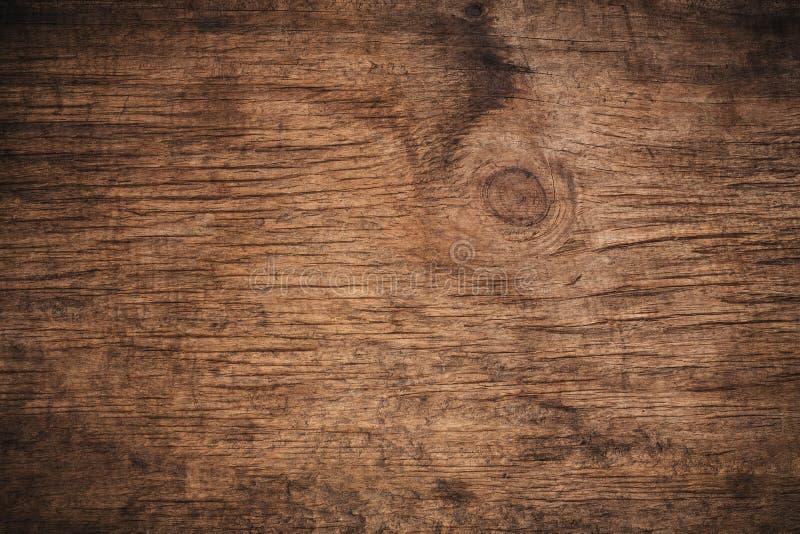Παλαιό σκοτεινό κατασκευασμένο ξύλινο υπόβαθρο grunge, η επιφάνεια της παλαιάς καφετιάς ξύλινης σύστασης, καφετιά ξύλινη ξυλεπένδ διανυσματική απεικόνιση