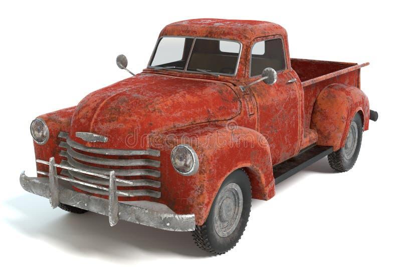 Παλαιό σκουριασμένο ανοιχτό φορτηγό ελεύθερη απεικόνιση δικαιώματος