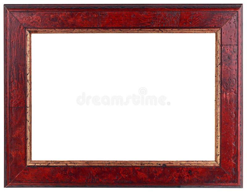 Παλαιό σκούρο κόκκινο ξύλινο πλαίσιο στοκ φωτογραφία με δικαίωμα ελεύθερης χρήσης