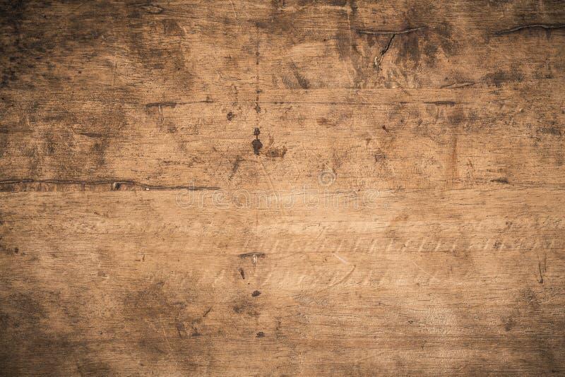 Παλαιό σκούρο φόντο από ξύλο με σκουρόχρωμη υφή, Η επιφάνεια της παλιάς καστανής υφής ξύλου, η πάνω όψη καστανή επένδυση ξύλου στοκ φωτογραφίες