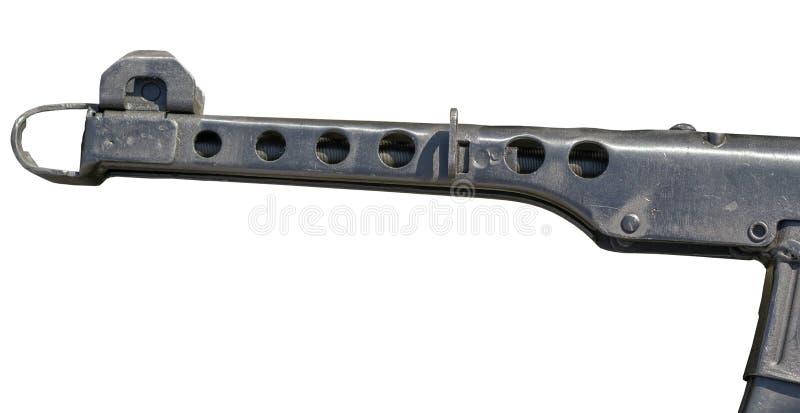 Παλαιό σοβιετικό ρωσικό κόκκινο Submachine στρατού πυροβόλο όπλο ΜΑΔ-43 στοκ εικόνες με δικαίωμα ελεύθερης χρήσης