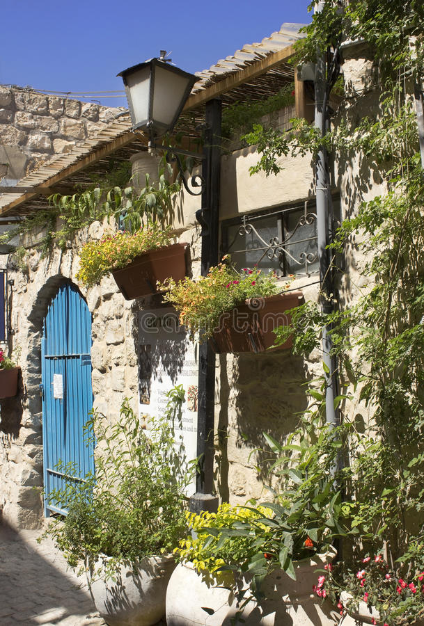 Παλαιό σπίτι πετρών σε Safed στοκ φωτογραφία με δικαίωμα ελεύθερης χρήσης