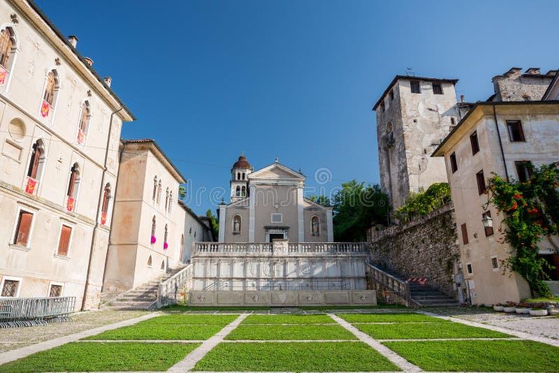 Παλαιό τετράγωνο Feltre, Ιταλία στοκ φωτογραφία με δικαίωμα ελεύθερης χρήσης