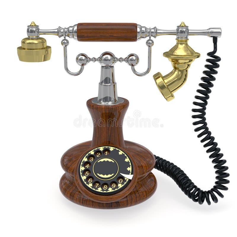 παλαιό τηλέφωνο ύφους διανυσματική απεικόνιση