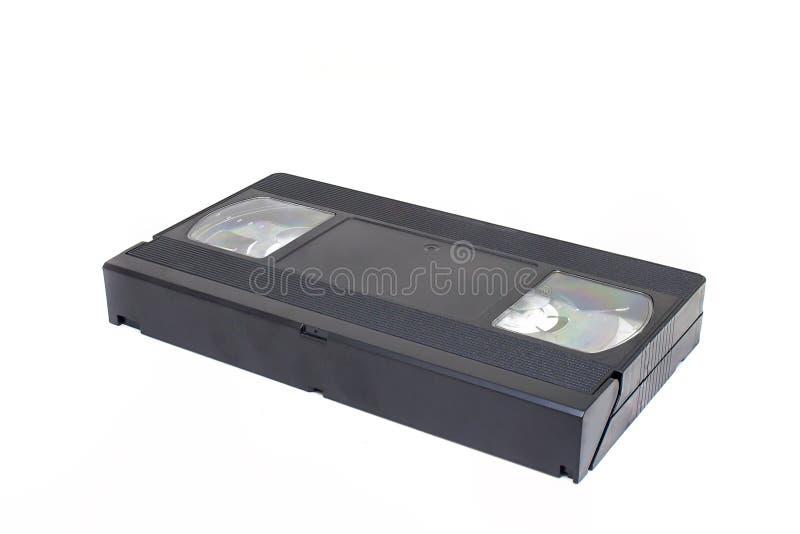Παλαιό τηλεοπτικό εγχώριο σύστημα ή κασέτα ταινιών VHS που απομονώνεται στο άσπρο υπόβαθρο στοκ φωτογραφία