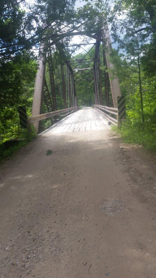 παλαιό τραίνο γεφυρών στοκ φωτογραφία με δικαίωμα ελεύθερης χρήσης