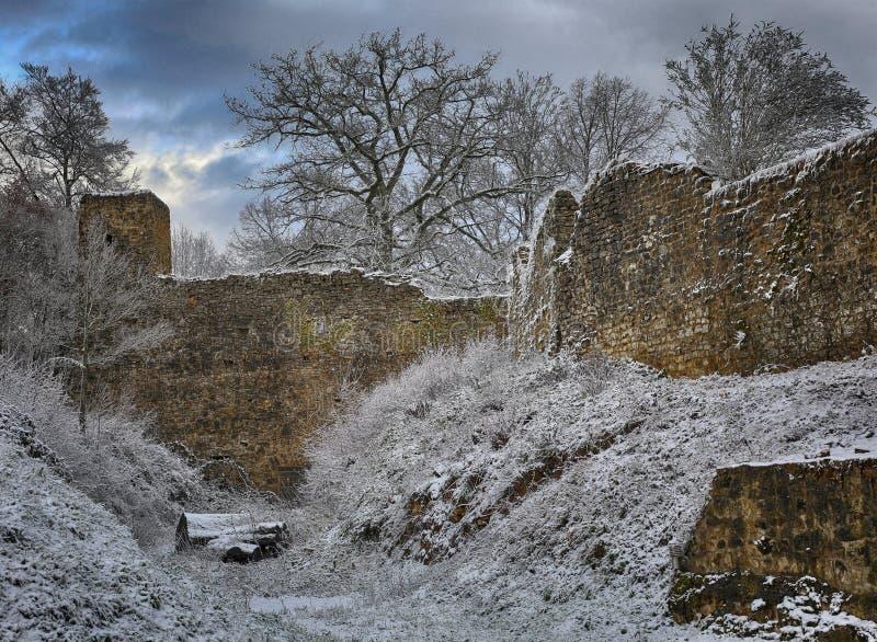 Παλαιό φρούριο στις Αρδέννες στοκ εικόνα