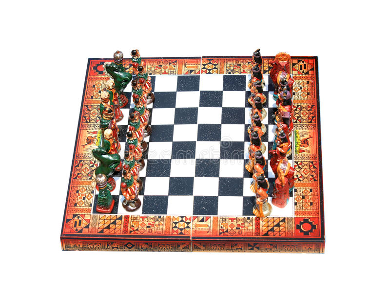 Παλαιό χαρτόνι σκακιού στοκ εικόνες
