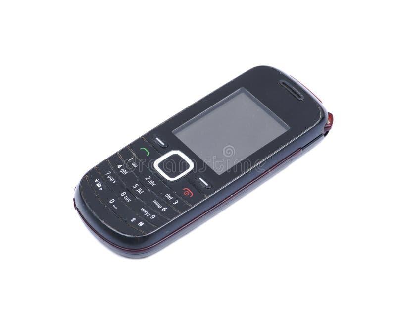 Παλαιό χρησιμοποιημένο αναδρομικό κινητό τηλέφωνο κυττάρων που απομονώνεται στο λευκό στοκ φωτογραφία με δικαίωμα ελεύθερης χρήσης