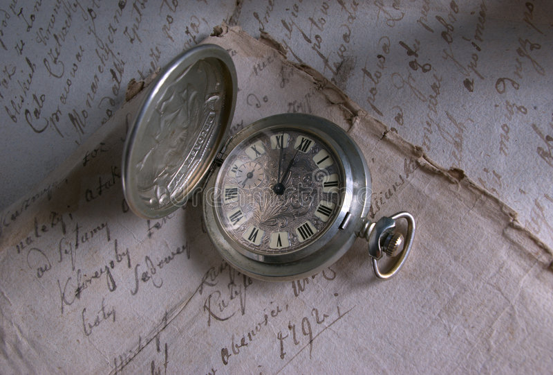 παλαιό χρονικό ρολόι Στοκ Φωτογραφία