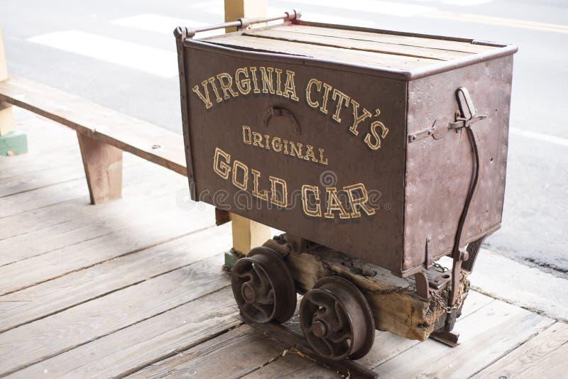 Παλαιό χρυσό βαγόνι εμπορευμάτων στοκ φωτογραφίες με δικαίωμα ελεύθερης χρήσης