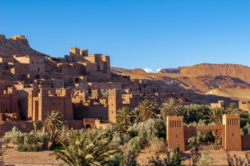 Παλαιό χωριό ενίσχυση-Ben-Haddou στο Μαρόκο στοκ εικόνες