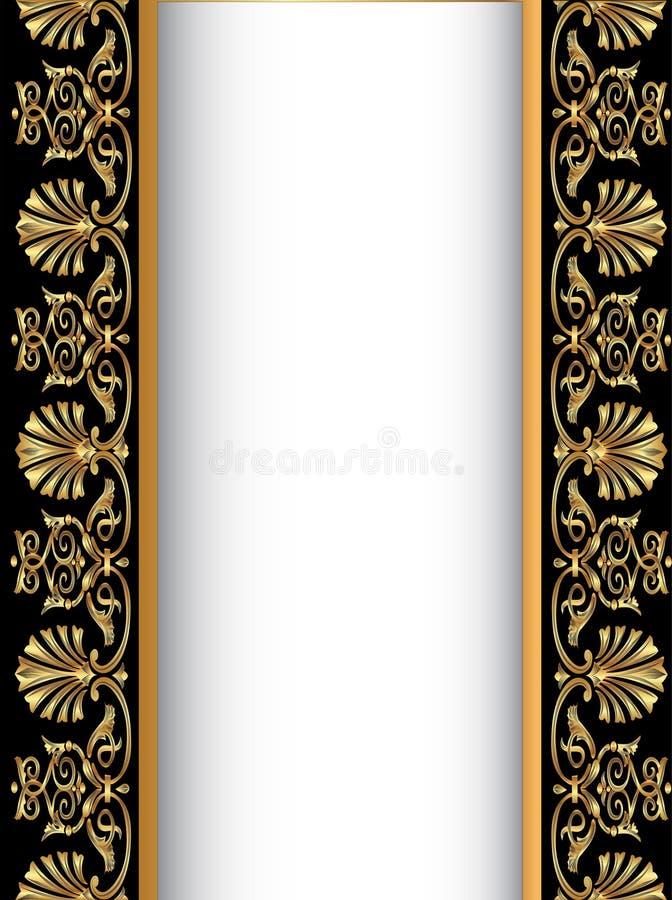 παλαιό EN χρυσό παλαιό πρότυπ&om απεικόνιση αποθεμάτων