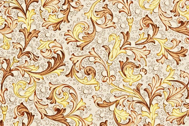 παλαιό floral πρότυπο εγγράφου στοκ εικόνες