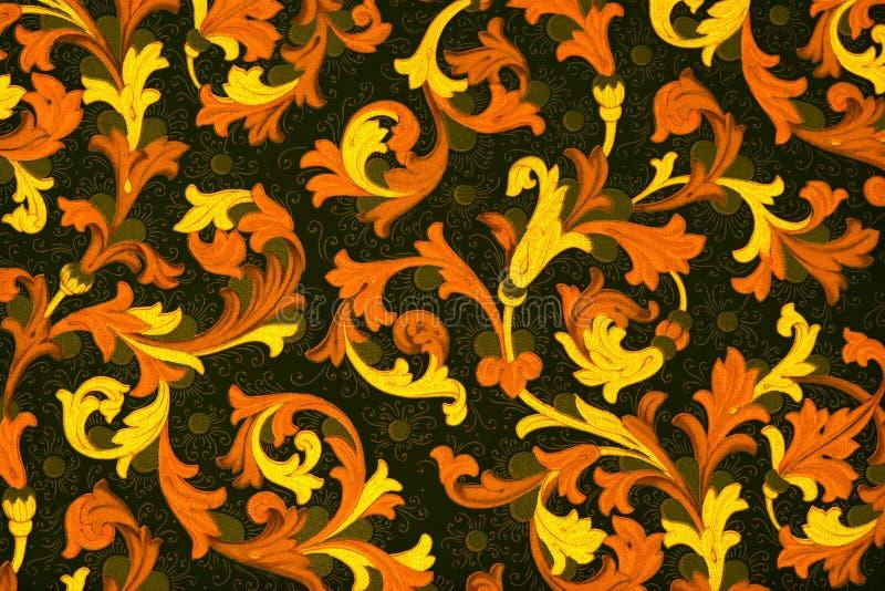 παλαιό floral πρότυπο εγγράφου στοκ εικόνα με δικαίωμα ελεύθερης χρήσης