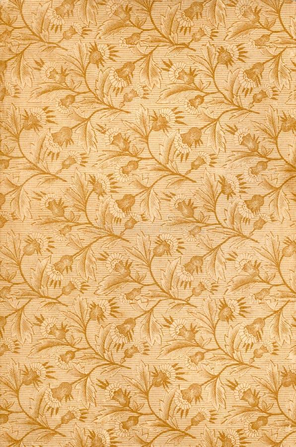 παλαιό floral πρότυπο διανυσματική απεικόνιση