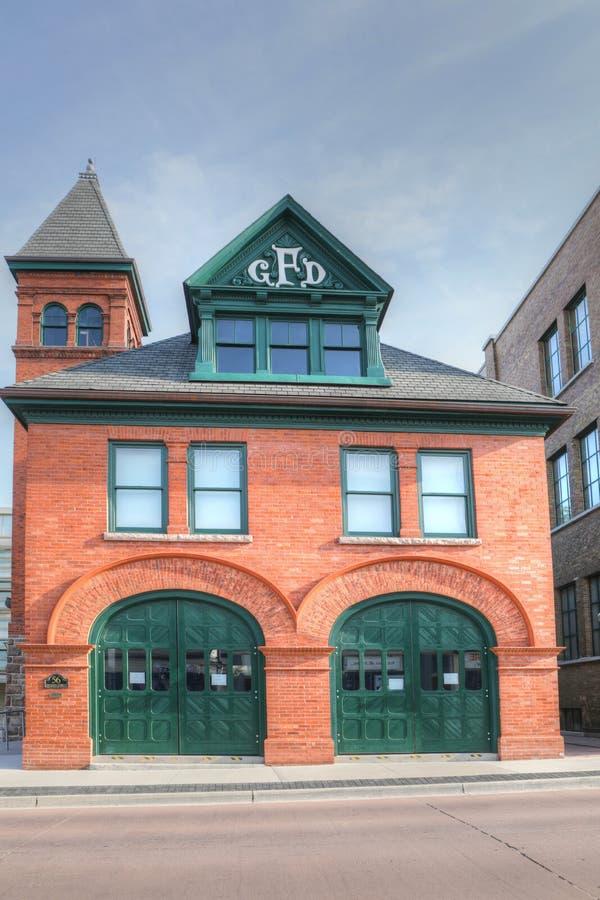 Παλαιό Galt Firehall στο Καίμπριτζ, Καναδάς στοκ φωτογραφία με δικαίωμα ελεύθερης χρήσης