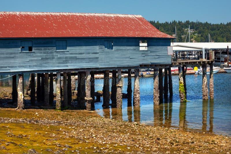 Παλαιό Gig αποβαθρών αλιείας λιμάνι Ουάσιγκτον στοκ φωτογραφία