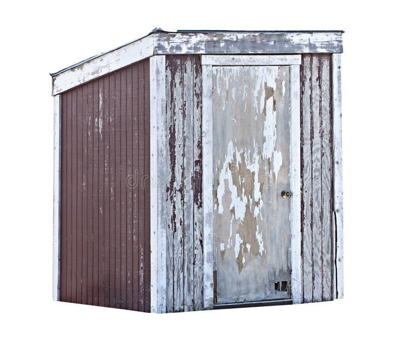 παλαιό outhouse έριξε το δάσος στοκ φωτογραφία με δικαίωμα ελεύθερης χρήσης